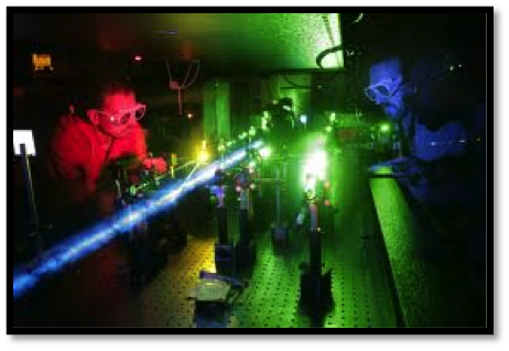 Laser Lab testing to develop the Laser Putt system